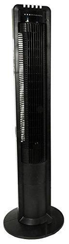 Interior XXL Säulenventilator / Turmventilator 108cm 3 Stufen, 180° Oszillierender Ventilator, schwarz, mit Fernbedienung und Timer