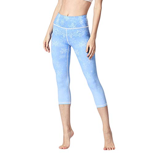 Setsail Damen Trend Hosen Hoch taillierte Unterhose Stretch Fitness-Yogahose Laufhose Bequeme Hose (Capri-baumwoll-leibchen)