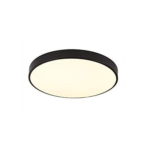 LED Moderno Lámpara De Techo,Iluminación de techo de interior,Plafón de techo, lámpara de techo para pasillo salón dormitorio (Blanco Calido 12 W, 23 CM)