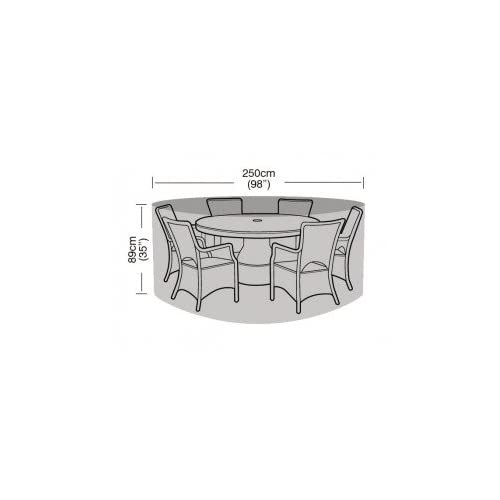 Garland 6-8 Seater Round Furniture Set Cover – Silver Grade (W1400)