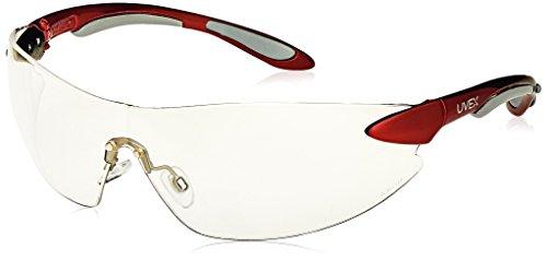 icherheit Eyewear, rot metallic und Silber Rahmen, klar hartbeschichtet Objektiv ()