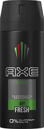 AXE Bodyspray für einen langanhaltenden Duft Africa ohne Aluminiumsalze, 150 ml, 3er Pack