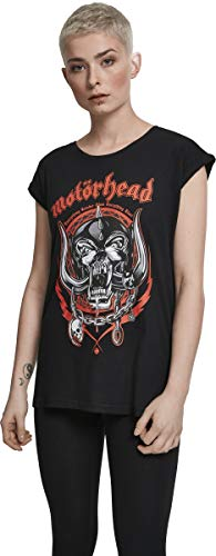 MERCHCODE Damen Motörhead Razor T-Shirt, Black, XL Damen-black Metal