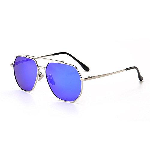 Easy Go Shopping Kids Polarized Sonnenbrillen Full Metal umrandet mit Box UV-Schutz Jungen und Mädchen im Alter von 3 bis 12 Jahren (Farbe : Blau)