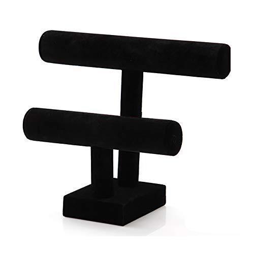 Soporte De Exhibición De Joyería t-Bar Pulsera Collar Reloj Organizador De Soporte De Exhibición para Organización En El Hogar (2)