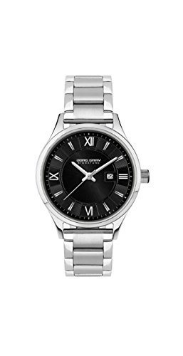 Jorg Gray Signature Collection Women's Quartz Watch with Black Dial Analogue Display and Silver Stainless Steel Bracelet JGS2581B