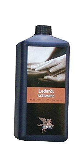 Lederöl, 1 L für alle Glattleder schwarz, Sattelzeug, Motorrad und Arbeitskleidung, Leather Oil