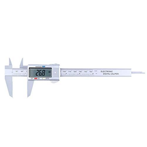 Hotaluyt Kunststoff Digitalanzeige Messschieber 0-150mm Skala Inch Metric Fraktionen Conversion Messwerkzeug