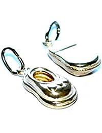 Bling Jewelry Mini Engravable esmalte Mariquita Mary Jane bebé zapato colgante chapados en rodio 4oBrRb