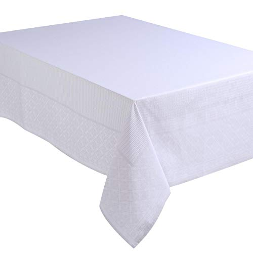 Atmosphera - Nappe Blanche Jacquard nid d'abeille 140X240