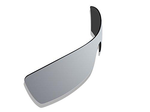 BlackWorld Tex * Silber * Spiegel Polarisierte Ersatz Gläser für Oakley Oil Rig Sonnenbrille
