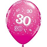 Luftballons 30 pink Qualatex, ca. 30 cm, 5 St.