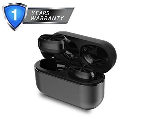 XIAOWU Auricolari Bluetooth, Bluetooth 5.0 Inteligente Senza Fili Cuffie Bluetooth IPX5 Impermeabile Super Mini Stereo True Wireless Auricolari in Ear con Microfono per iPhone Samsung e Smartphone