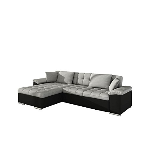 gro es design ecksofa diana eckcouch mit bettkasten und schlaffunktion elegante couch moderne. Black Bedroom Furniture Sets. Home Design Ideas