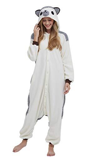 DELEY Unisex Erwachsene Tieroutfit Pyjamas Schlafanzug Cosplay Verkleiden Kostüme OneSize Jumpsuit Tierkostüme Igel Größe ()