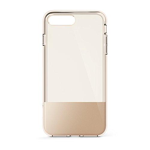 Belkin SheerForce Schutzhülle (TPU, Sturzsicherheit, Anschlüsse frei zugänglich, geeignet für iPhone 8Plus/7Plus)gold