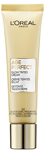 L'Oréal Paris Age Perfect Getönte Tagescreme, Mittel bis Dunkel 02, feuchtigkeitsspendend...
