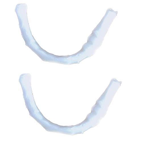 Prothèse Adhésifs, Fulltime 2 pcs Temporaire Sourire Comfort Fit Cosmétique Dents Prothèse Colle Prothèse Adhésifs
