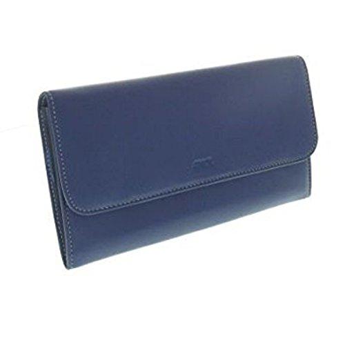Compagnon Cuir femme - Portefeuille - Porte Chéquier - Porte Carte - Couleur bleu - 20 x 12 x 2,5 cm