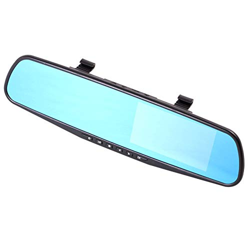 Metyere HD 1080P In-Car Rear View Mirror Camera with 4.3Inch Display Screen Motion Detection Recorder -