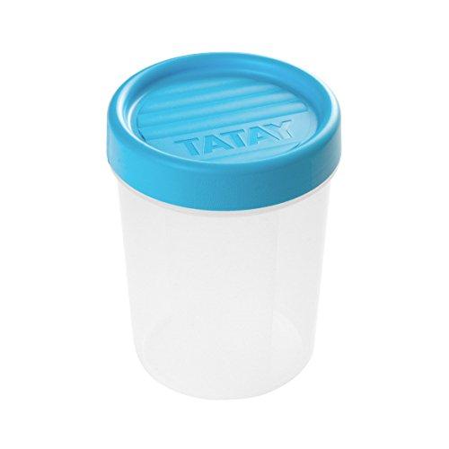 TATAY–Caja de conservación con cierre de rosca redonda 0,4l plástico 8,5x 8,5x 11,5cm