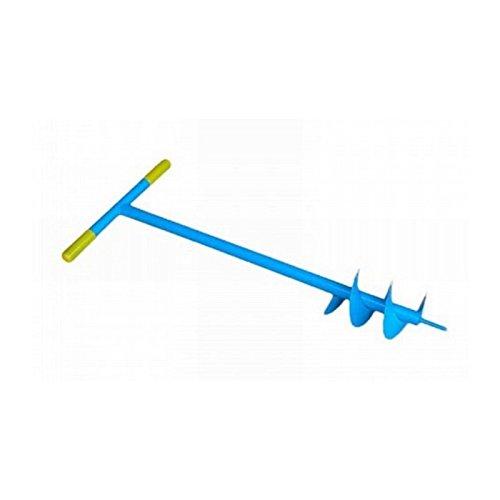 TRIVELLA A MANO Eider 150mm–Extra Grande lumaca, manico in gomma, per pali di recinzione o recinzione Bau