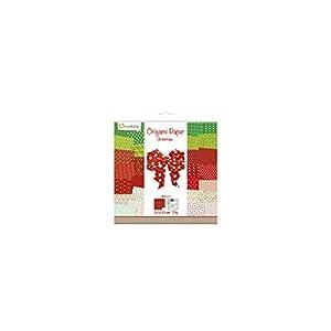 Avenue Mandarine Set Creativo con Papel de Origami, 60Hojas (30diseños x 2), 20x 20cm, 70g, Impreso por Ambos Lados + 1Hoja con Ojos, Manualidades, Ideal para niños, 1Pack de Navidad