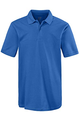 JP 1880 Herren große Größen bis 8XL, Poloshirt, Oberteil, T-Shirt mit Knopfleiste & Hemdkragen, Pique, Reine Baumwolle tiefblau XL 702560 74-XL