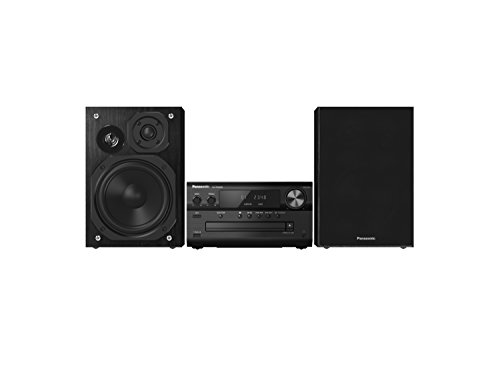 Panasonic SC-PMX80EG-K Sistema Micro Audio Alta Risoluzione, 120 W, Speaker 3 Vie, Lettore CD, Bluetooth+Re-Master, Docking iPhone5/iPod, USB DAC, AM/FM RDS, LincsD-Amp, Airplay, Nero
