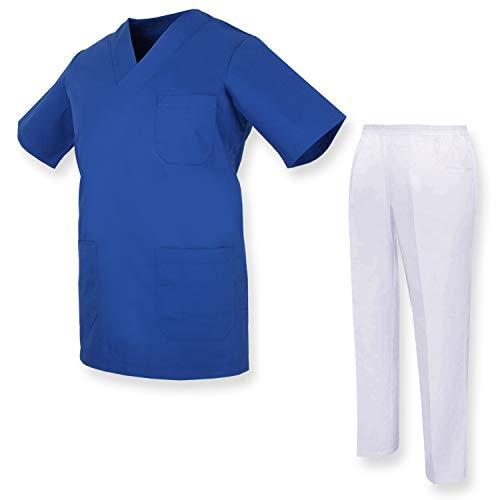 MISEMIYA - Unisex-Schrubb-Set - Medizinische Uniform mit Oberteil und Hose ref.81782 - Small, Blau