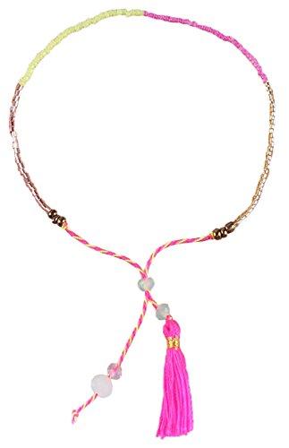 Kelitch Jewel Rosa Quaste Bohomien Freundschaft Einstellbar Samen Perle Armbänder Zum Mädchen Frau, Heiß Rosa (Tous Armband Perle)