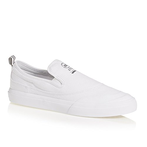adidas Matchcourt Slip-On ADV, Baskets Homme Blanc (Footwear White/Footwear White/Footwear White 0)