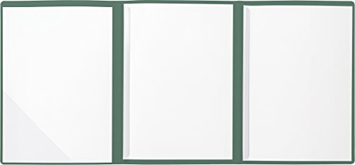 BRUNNEN 102012950 Bewerbungsmappe (Strukturkarton mit feinen Linien, A4, 10 Blatt) grün