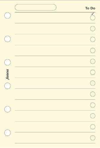 Filofax, Pocket - Fogli per agenda tascabile, lista cose da fare'To Do'