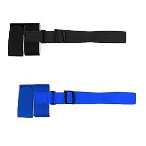 magideal Set Videoleuchte verstellbarem Schulterriemen Ski Snowboard Gurt Band porte-épaules leicht mit Schnalle–Blau, Schwarz
