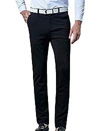 6b27aaea4ba78 Battercake Pantalones De Traje De Hombre Pantalones De Chino De Slim Fit Pantalones  De Cómodo Negocio Pantalones De Chándal De…