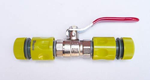 inscale IBC Tuyau femelle de réparation avec 1/Inline 5,1 cm en laiton Ball Valve pour 1/5,1 cm (13 mm) à clipser Push Fit tuyau d'arrosage Connecteurs