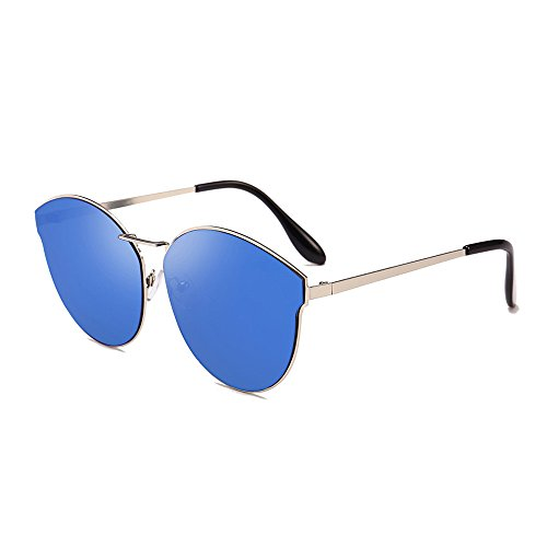 Sonnena Herren Damen Mode Katzenohr Aviator Pilotenbrille Polarisierte Sonnenbrille Vintage Metallrahmen Polarisierte Glasses Brille UV Brille (E) (Police Aviator Brille Kind)