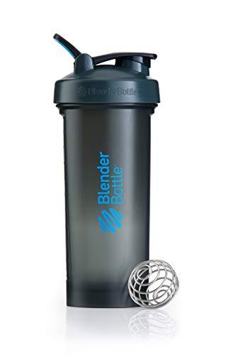 Blender Bottle Pro45 Protein Shaker / Wasserflasche / Sportflasche (1300 ml Fassungsvermögen, skaliert bis 1000ml) Grau/Blau