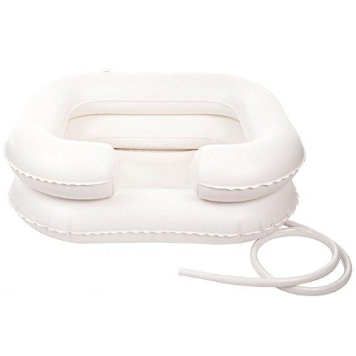 Lavacabezas hinchable, lavacabezas inflable con tubo de drenaje, manguera de salida
