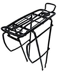 """ATRAN VELO H.R.-Gepäckträger """"Ultima Touring"""" 26/28"""" Farbe: schwarz, verstellbar, Alu, V-Streben, mit Befestigungsmaterial für die Hinterbaustreben"""