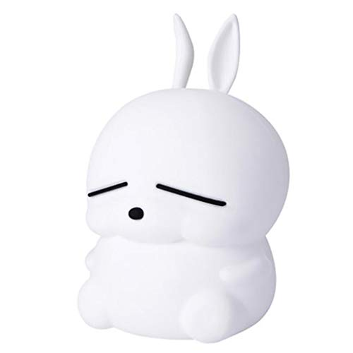 ichen Kaninchen Silikon Licht Nachtlampe für Kinder Schlafzimmer Baby Home Decor ()
