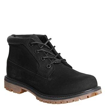 Timberland Nellie Chukka Double Waterproof Boot Black Nubuck Metallic Collar - 5 Uk
