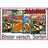 SAHAWA® Frostfutter 5 Blister, Zierfischfutter, Süßwasser, Discus, Barsche, Guppys, Rote Mückenlarven (Schwarze Mückenlarven)