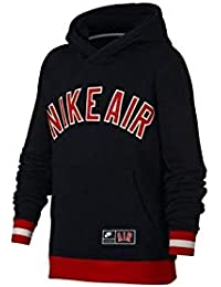 Sudadera Air Fleece Negro Rojo Junior