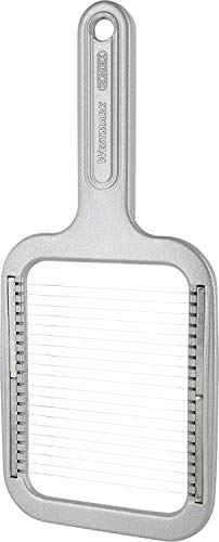 Westmark Pellkartoffel-/Mozzarellaschneider, Aluminium/Rostfreier Edelstahl, 25,8 x 11,4 x 1,2 cm, Rondex, Grau, 60802260
