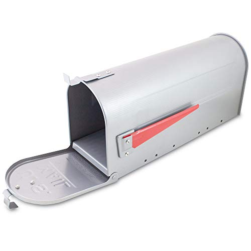 US Mailbox Amerikanischer Briefkasten Standbriefkasten Wandbriefkasten Letterbox Silber Inclusive Standpfosten - 4