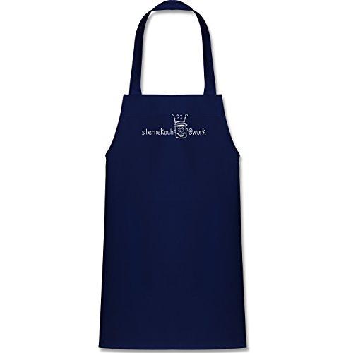 Shirtracer Kleine Köche & Bäcker - Sternekoch - 60 cm x 50 cm (H x B) - Navy Blau - X978 - Kinder Kochschürze