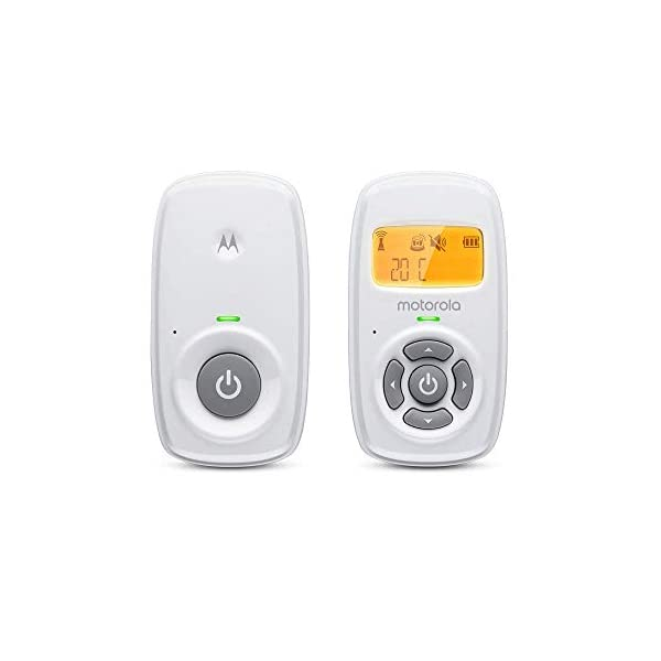 Motorola Baby MBP24 Audio Baby Monitor with Backlit Display and Two-Way Talk Motorola Baby Duct wireless connectivity with backlit display and room temperature monitoring Two-way talk with up to 1, 000ft (300m) range and high sensitivity microphone Volume control and secure and private connection 1