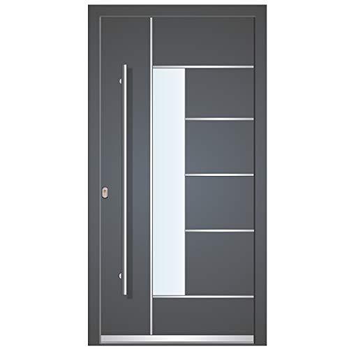 Haustür Welthaus WH75 Standard Aluminium mit KunststoffLA40 Dortmund Tür nach mass gemacht Farbe aussen anthrazit 7016 Innen weiß außengriff BGR1400 innendrucker M45 Zylinder 5 Schlüßel